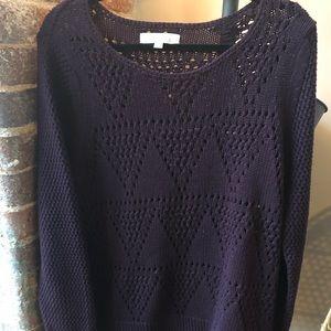 Loft dark purple sweater
